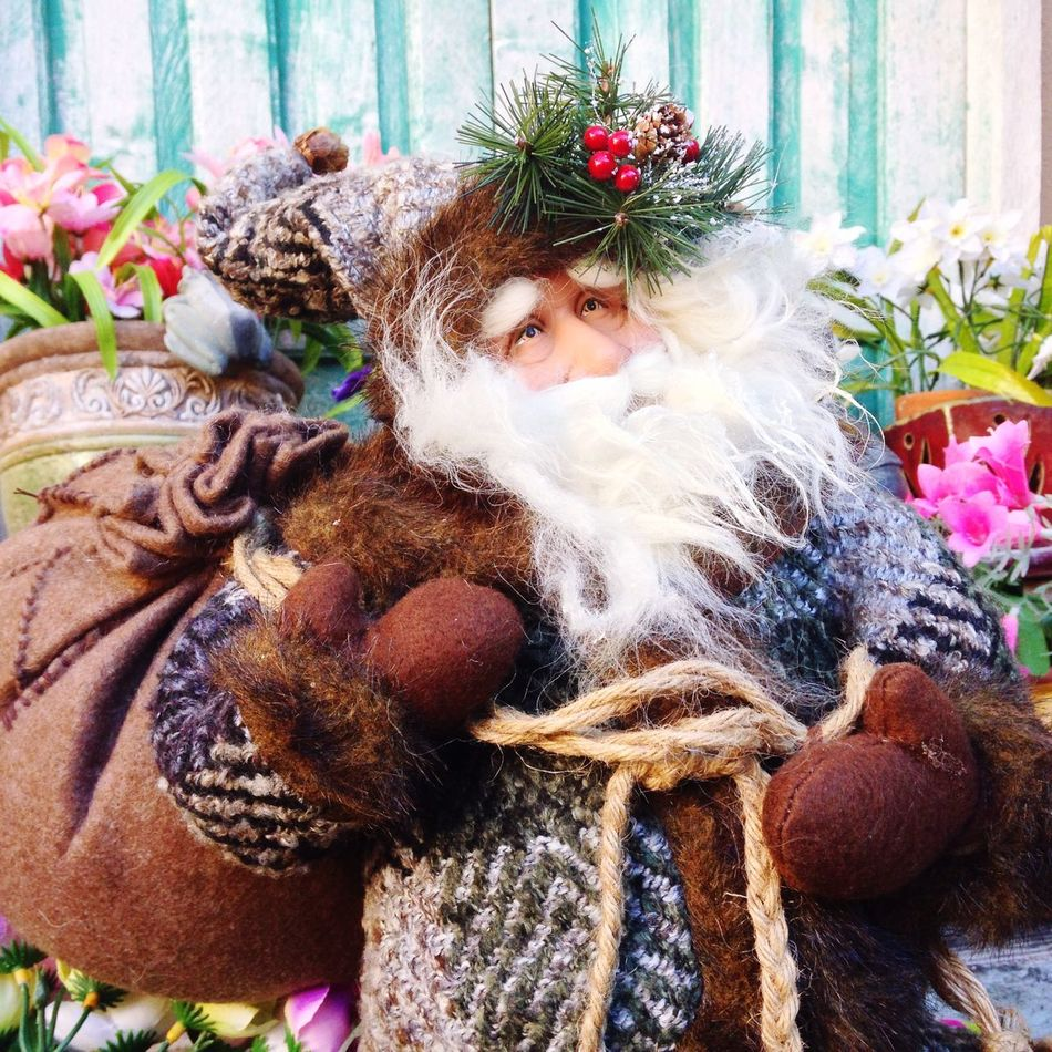 I gave myself a little challenge to find my Mom's favorite Santa & make a Christmas pic, hohoho Merry Christmas! Holiday Flowers Open Edit Enjoying Life