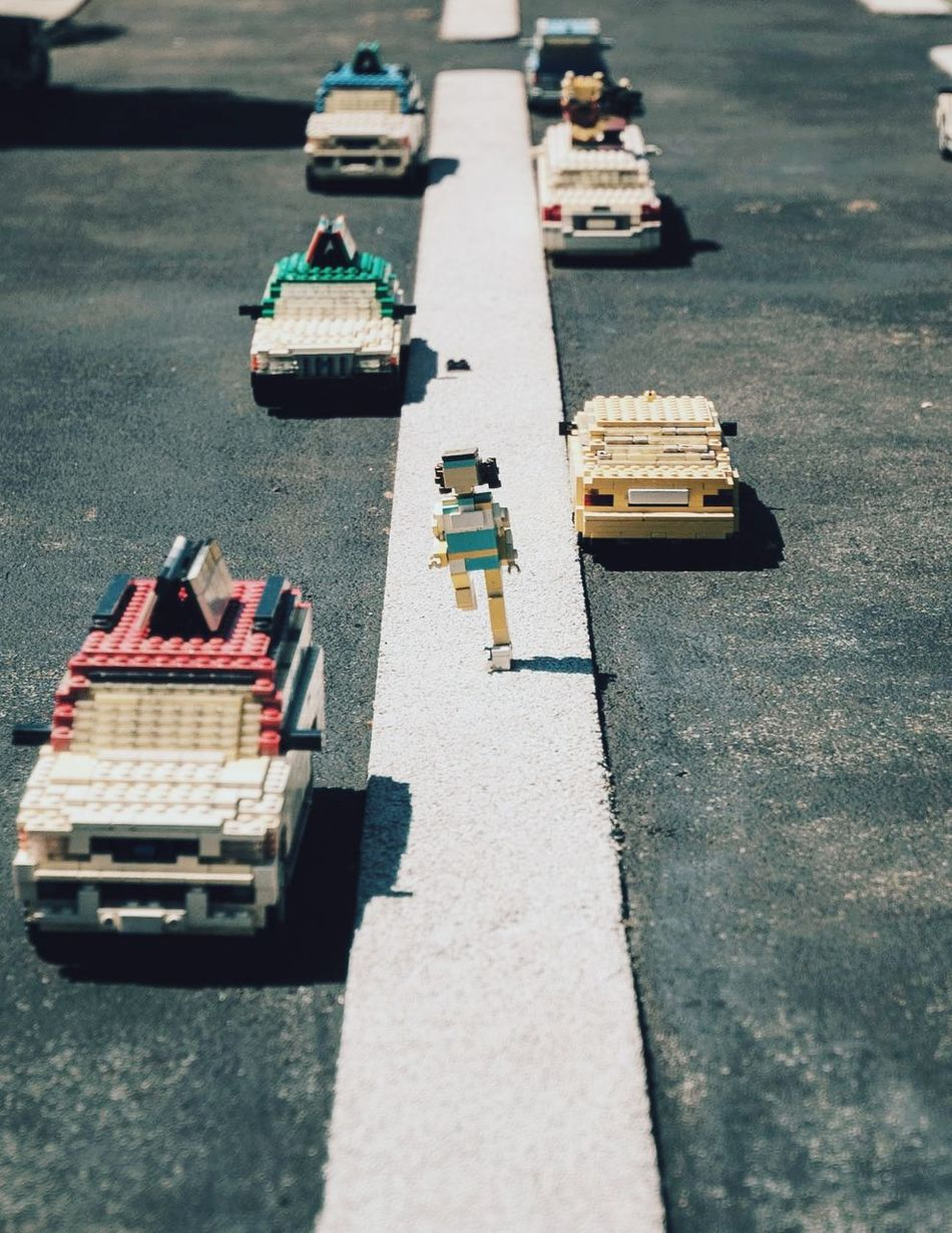 Art Is Everywhere Transportation Street Road City EyeEmBestPics LEGO WeekOnEyeEm StillLife Streetphotography Streetphoto_color EyeEm Best Shots EyeEm Diversity Street Photography Urban Perspectives City Life Life In Colors One Person Colors Street Life Streetphoto Toyphotography Toys Legoland Urban Exploration