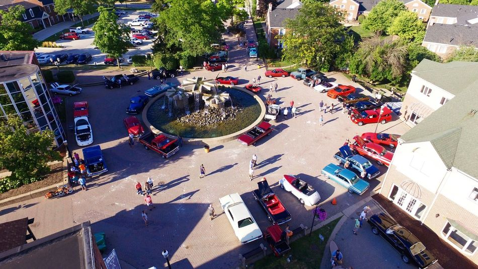 Monday night riverfront car cruise. CarShow Cars Classic Car Monday Sunset