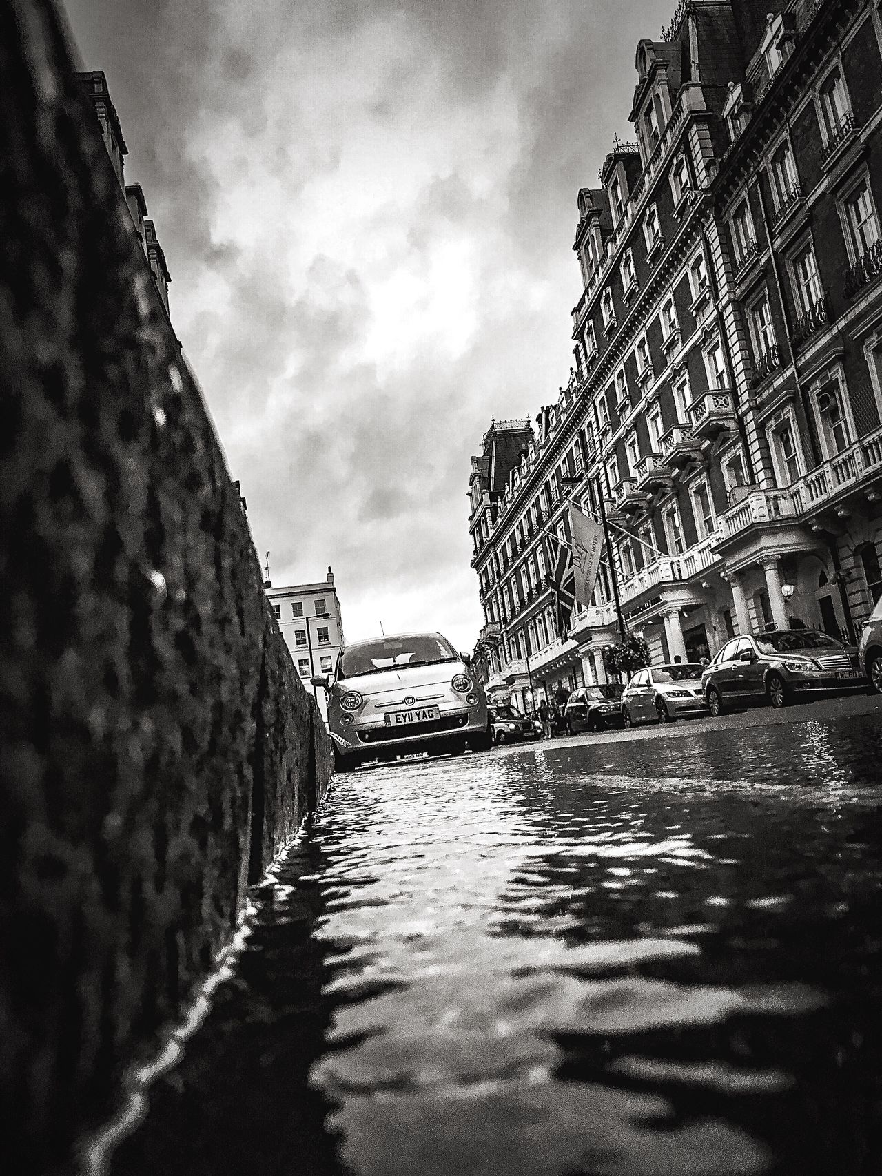 London From The Gutter Series Gutter View Puddles Street Photography Fine Art Photography Blackandwhite Urban Exploration Buildings & Sky EyeEm Best Shots Darkness Fine Art Artistic
