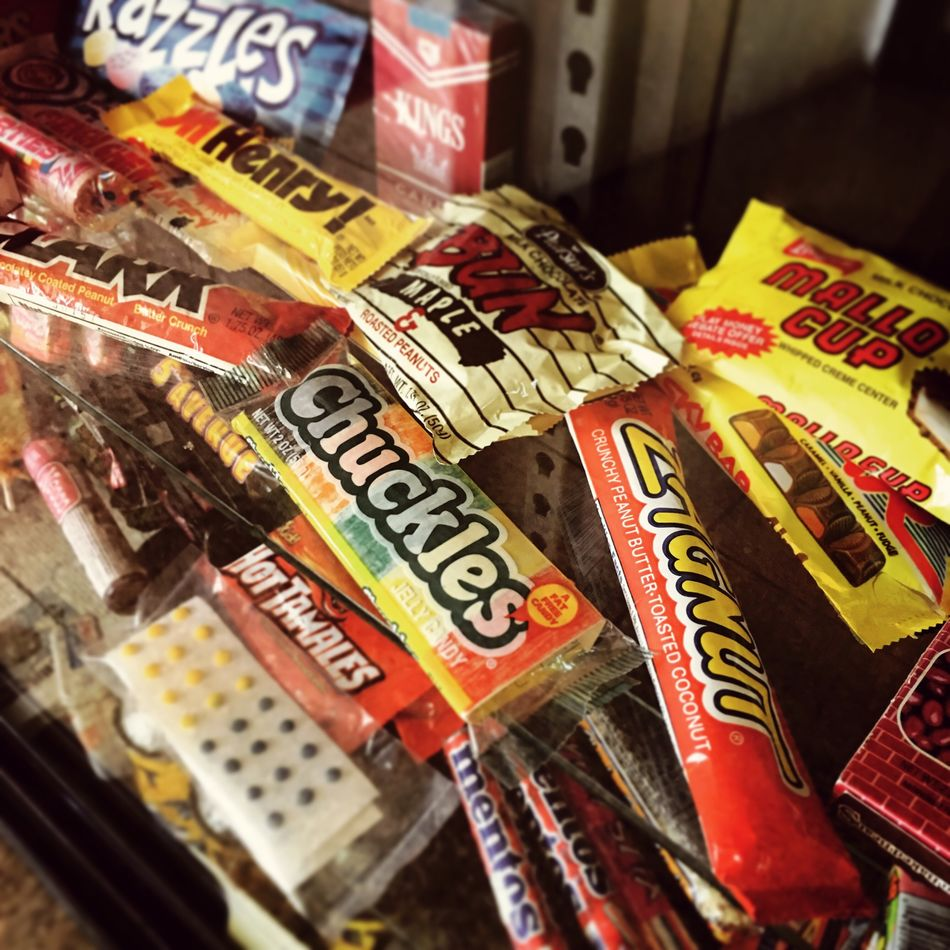Photographic Memory Candy Childhood Zagnut Mallowcup Dots Candyshop Old-fashioned Sweets Candy Store Chuckles Ohenry Clarkbar Hot Tamales Mentos Red Hots Bun Razzles! Smarties Route 66 Servicestation