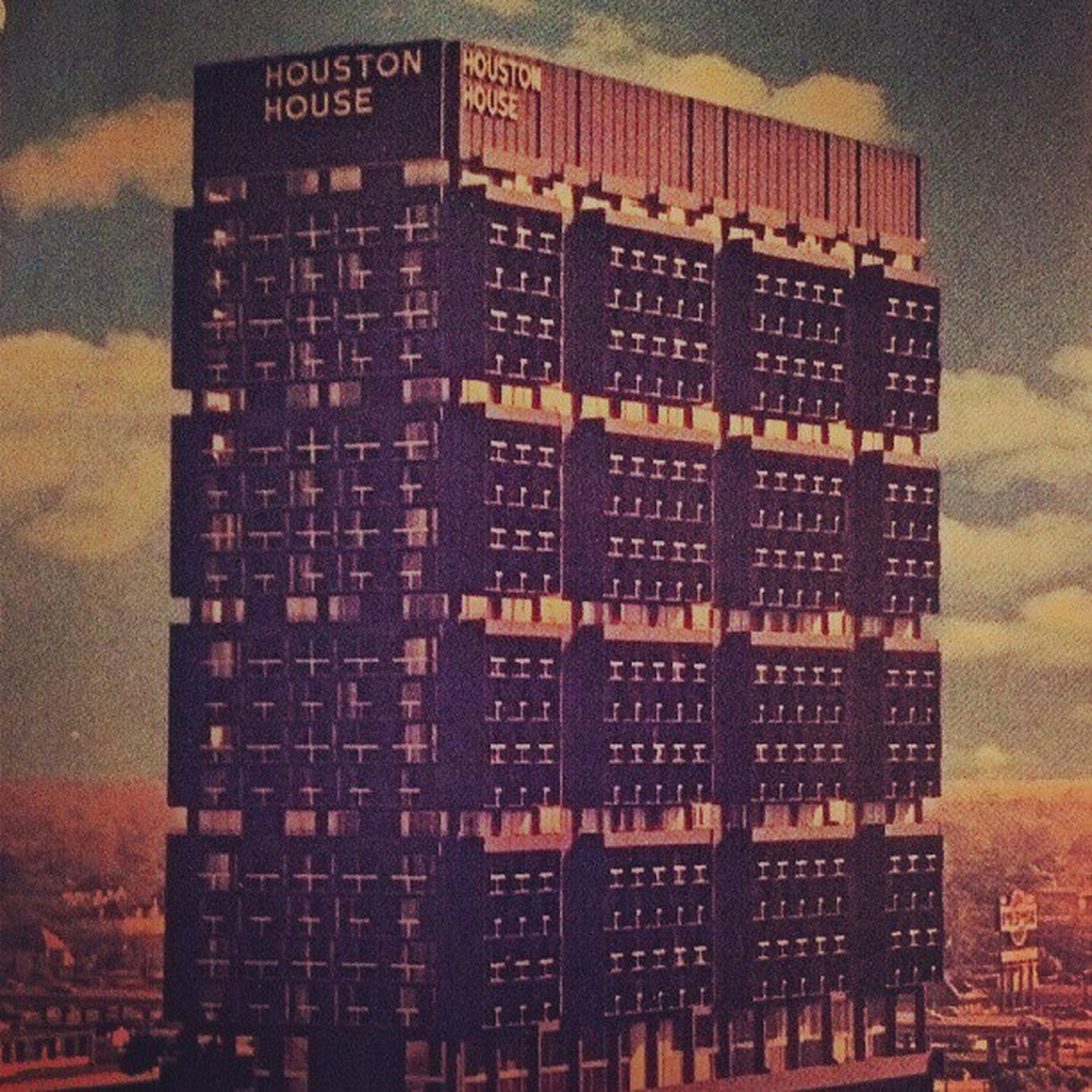 My former old home, Houston House Apts! 30 story hi-rise eminently convenient in downtown location. (1617 Fannin Houston, Texas 77002 ) Photo credits : Gough Photo Services Houstonarchitecture , Architecture 50s brutalisticarchitecture downtown cities citytour hirise apartment