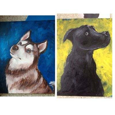 Finishing the two dogs real soon Painting My Art Streamzoo Streamzoofamily