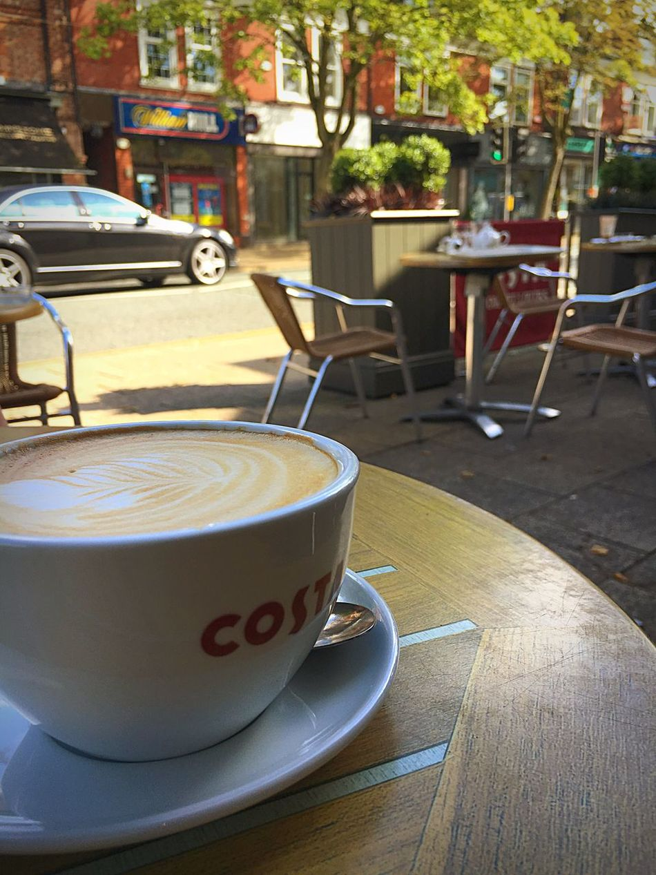 Cheeky little flat white in Alderley Edge Refreshment Drink Coffee Cup Coffee - Drink Food And Drink Table Still Life Coffee Morning Froth Art Cafe Costa Flatwhite Alderley Edge Cheshire British