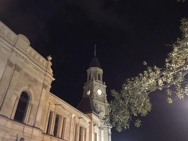 Fremantle, Western Australia Illuminated Architecture Building Exterior Religion Church Starry Night