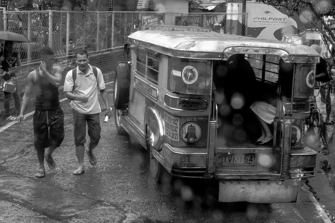 One rainy afternoon in Manila. City City Life Jeepney Jeepney Art Manila P Rainy Day Street Photography Wet