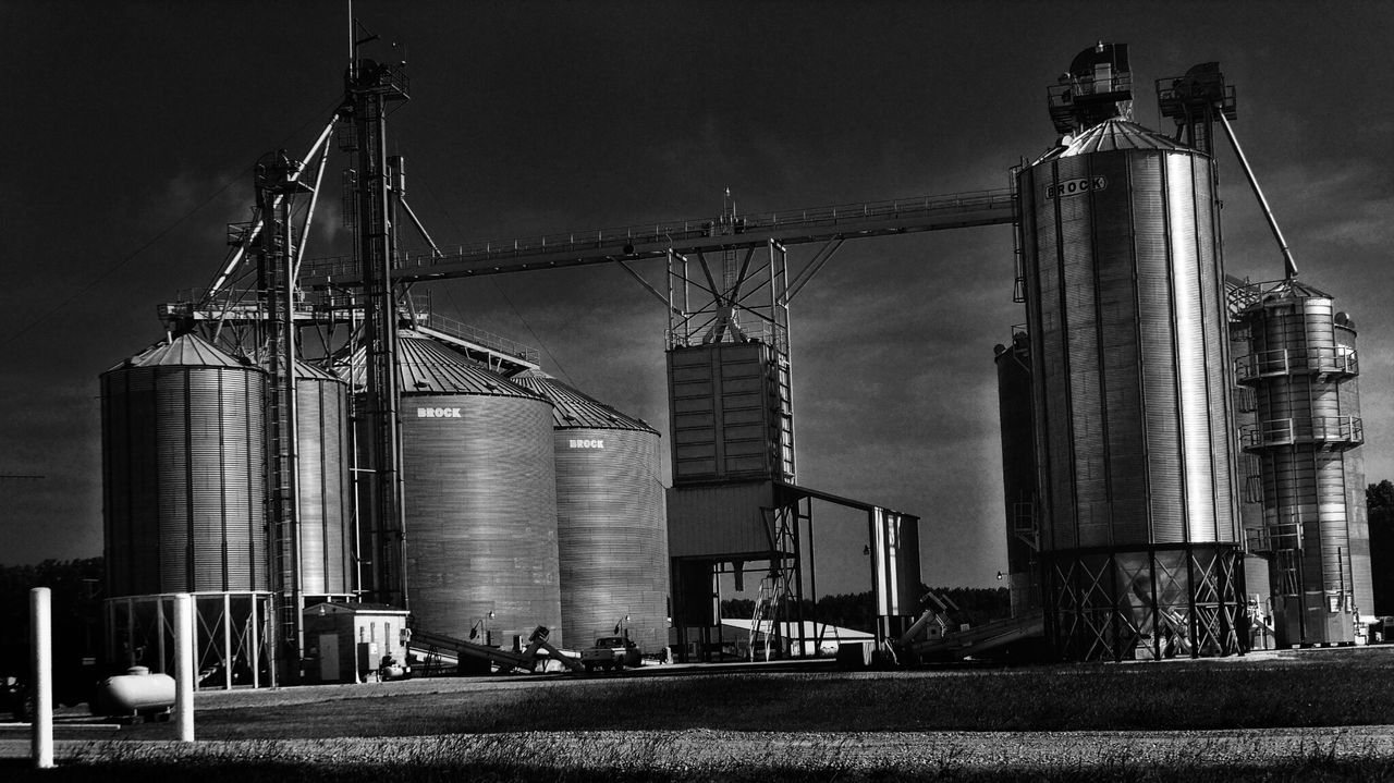 I'm not sure what this is but when i was traveling through north Carolina we saw this along the drive. it made for a great black and white photo i thought Building Exterior Architecture Built Structure Outdoors No People Travel Destinations Farm North Carolina Blackandwhite Black & White Photography Black&white