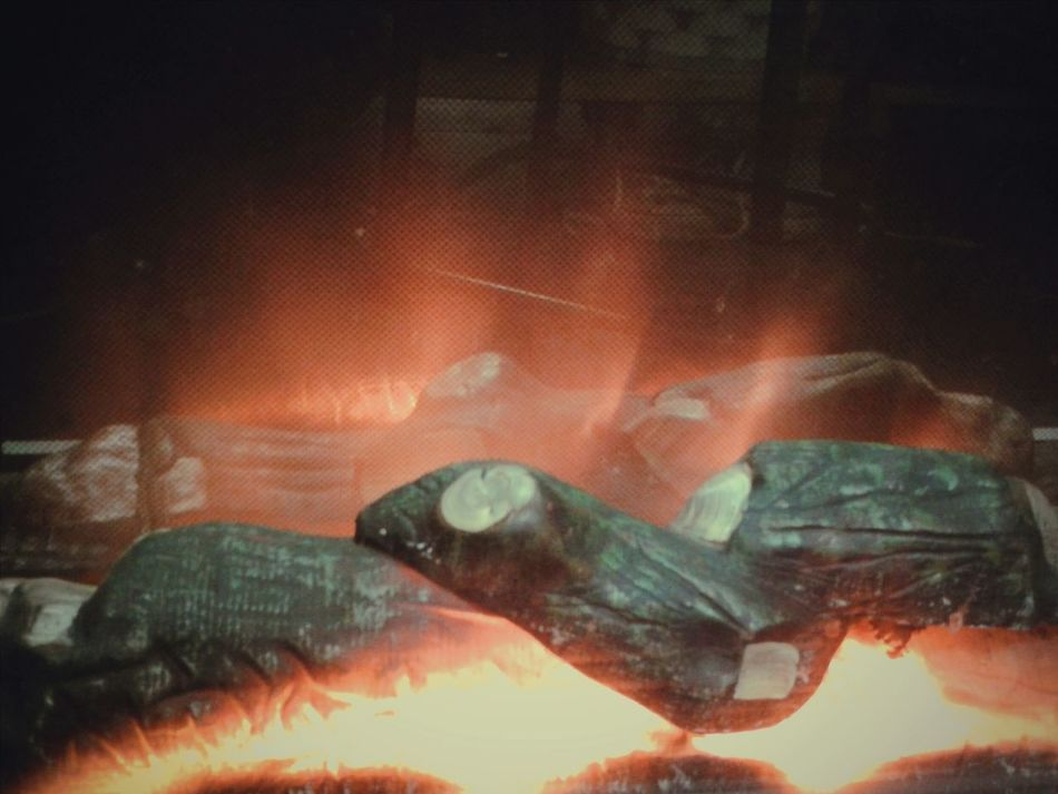 """""""Caminetto"""". Caminetto / Fake Fireplace / Flames Fiamme Fuoco Wintertime Inverno Smartphone Photography S3mini Eyeemfilter"""