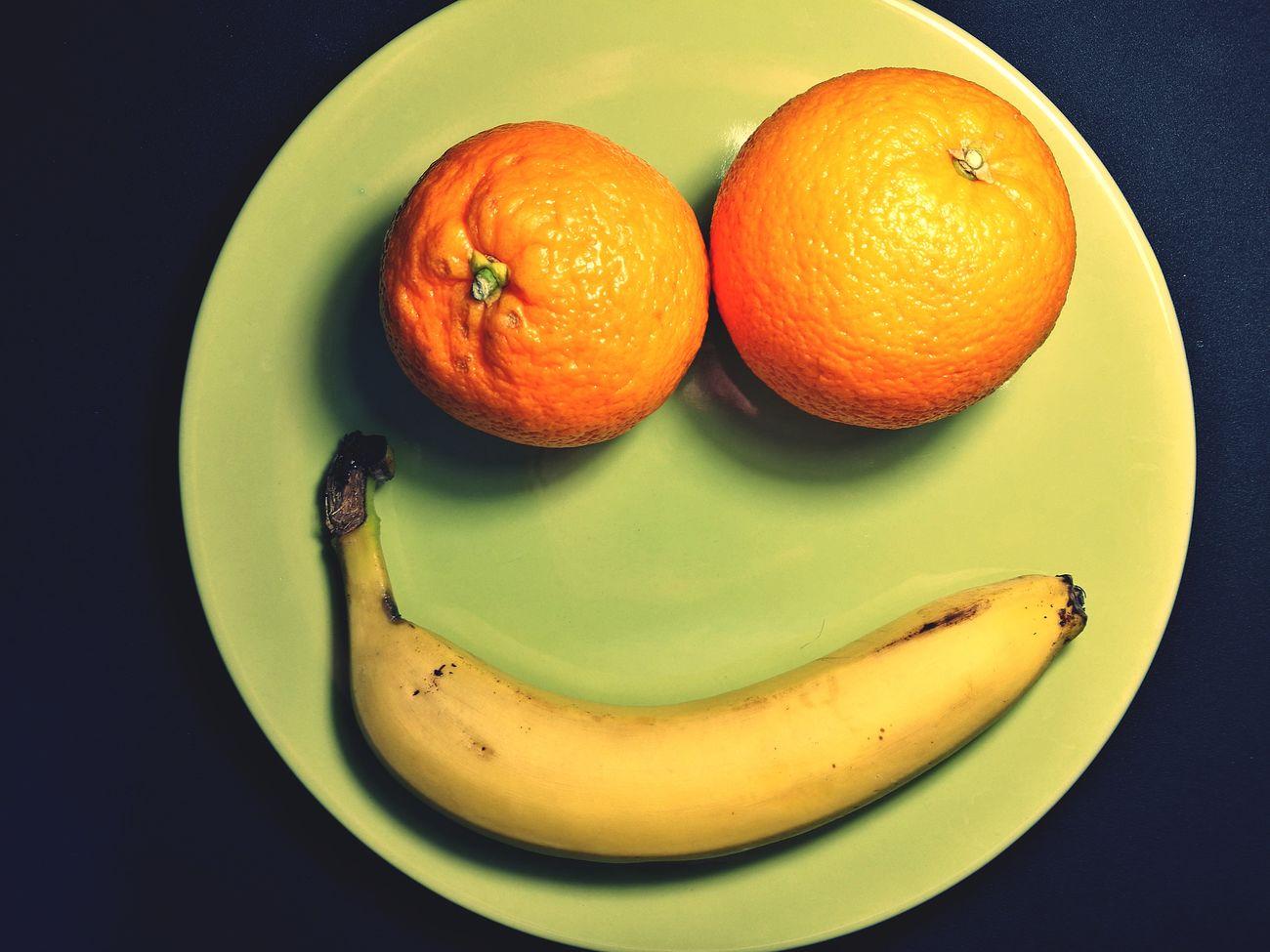 Smile Keep Smiling Have A Nice Day! Fruit Fruits Orange Oranges Orange Color Banana Food Freshness Orange - Fruit Plate Citrus Fruit Ready-to-eat Close-up No People Indoors