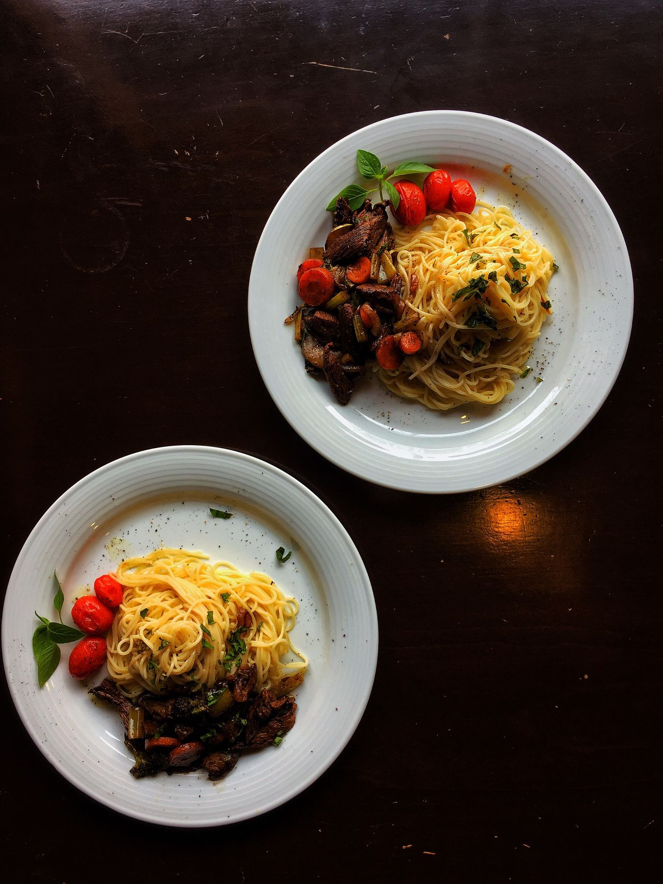 Pasta Food Plate Ready-to-eat Food And Drink Italian Food Freshness Healthy Eating Table Serving Size Bowl No People Indoors  High Angle View Spaghetti Savory Food Meal Indulgence Meat Lunch Visual Feast