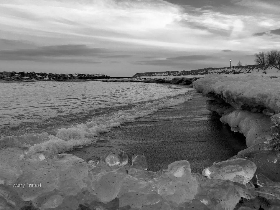 LakeForestIllinoisLakeMichigan Landscape_Collection EyeEm Best Shots - Black + White Beach Photography Wintertime Winterscape Ice_formations Lake Michigan Black And White Collection  Lakeshore ForestPark_LakeForestBeach Northshorebeach EyeEm Black&white! Beautiful Nature Beauty In Nature Landscape_photography Peace And Quiet At The Beach Illinois Beachphotography Lake Forest, Illinois