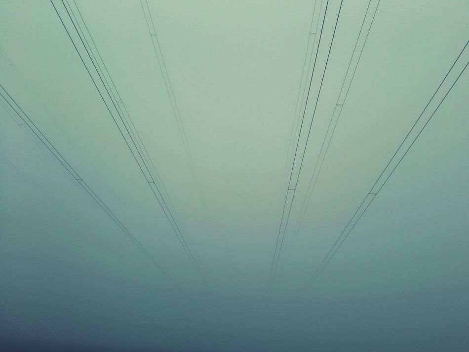 Powercabels in Fog Looks Good It's Cold Outside