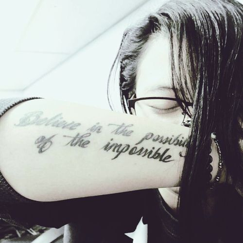 Believe in the possibility of the impossible First Eyeem Photo