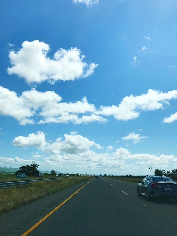 Sky Transportation Car Road Day Cloud - Sky The Way Forward Tranquility Beauty In Nature Outdoors Landscape Mode Of Transport Land Vehicle Nature No People Scenics First Eyeem Photo