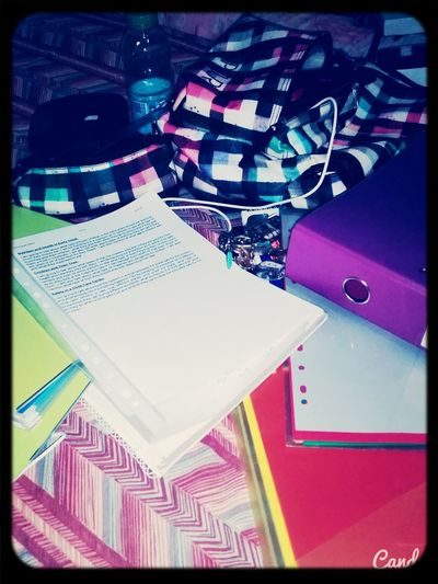 School Life  when you can bearly see The Bed cause of all The Books ???