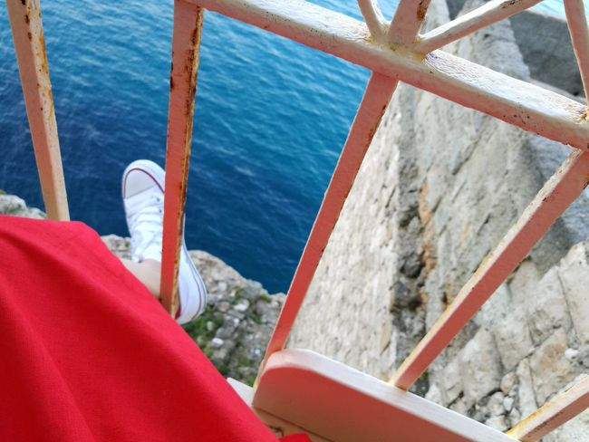 EyeEm Selects Summer Day Water Sea Red Nature Travel Destinations Enjoying Life Letstravel Enjoy Colors coffeetimeplace Vacations Outdoors Coffeebreak Balcony View Balcony Converse All Star Brightdress