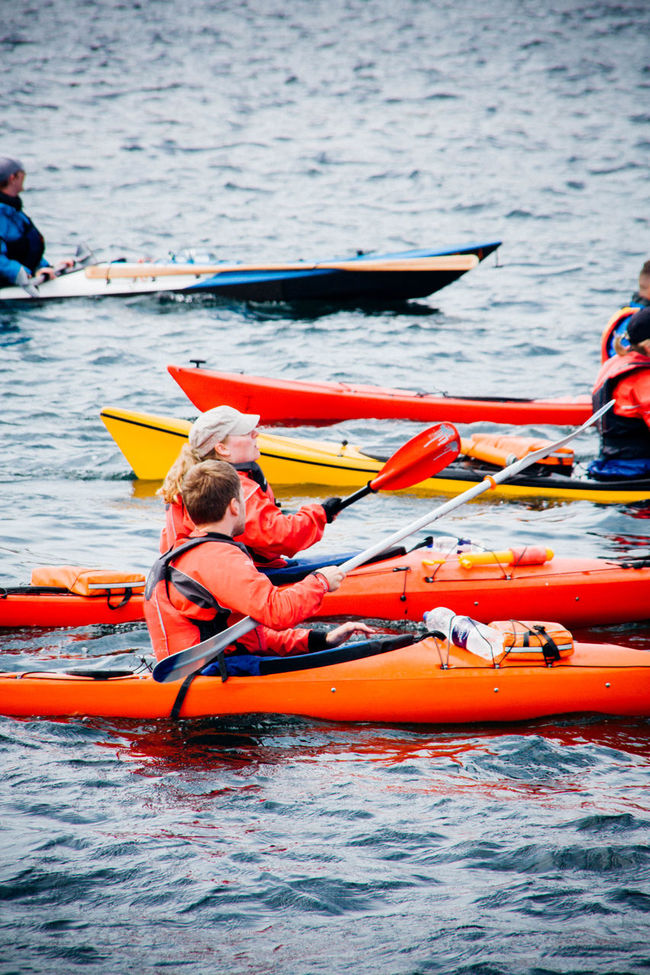 Canoeing Canoes Day Leisure Activity Sea Side View Water Waterfront Watersport Watersports