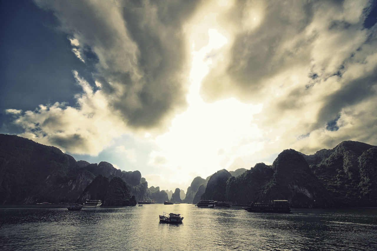 Halong Bay ASIA Astrology Sign Beauty In Nature Cloud - Sky Day Eye4photography  EyeEm Nature Lover Halong Halong Bay Vietnam Landscape_Collection Nature Nautical Vessel No People Outdoors Sky Swan Travel Destinations Travel Photography Water Yacht