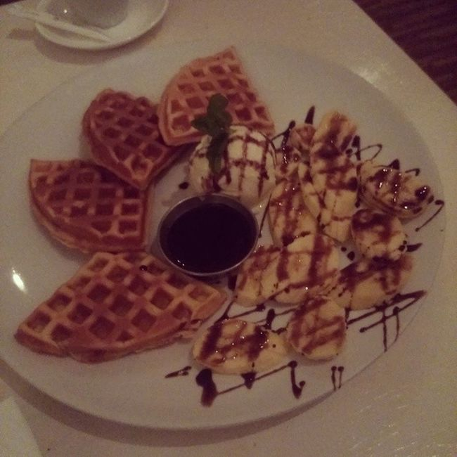 And now, time for some after dinner snacks Waffleswithbananachocolate Iamalexchan Kualalumpur Dinner blackmarket malaysia