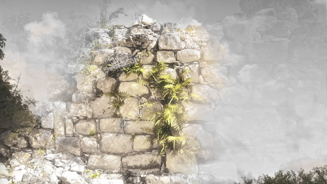 Dimensions Blended Images Photo Creations Photo Art Old Wall St.Croix, US Virgin Islands