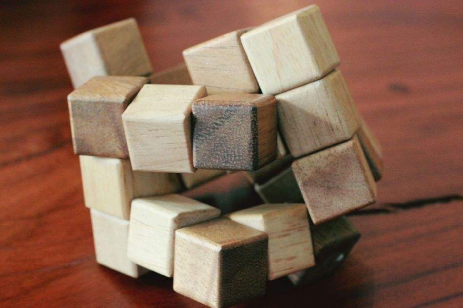 complicate Toy Block Block Shape No People Close-up Indoors  Cube Shape Day
