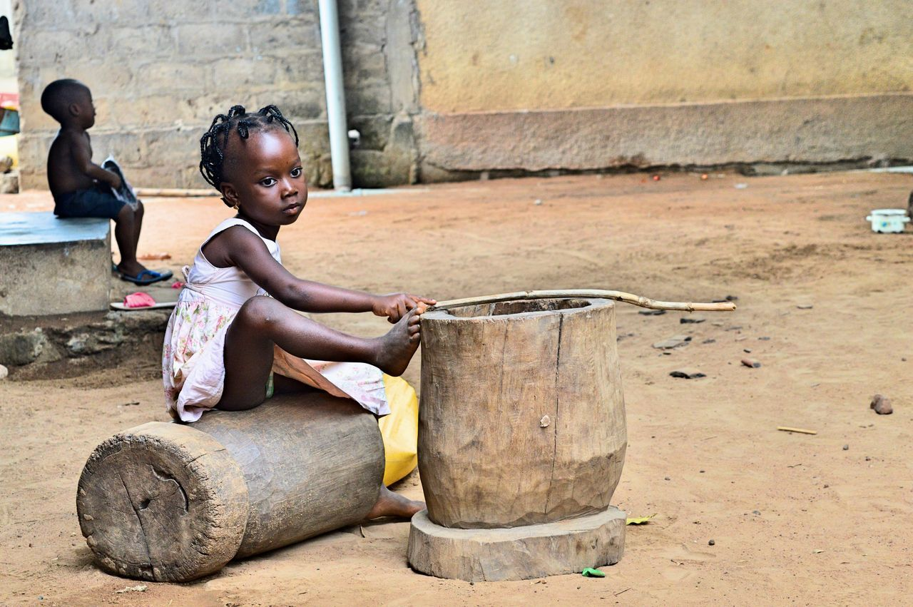 Benin Child Children Only Cultures Humanitarian One Girl Only One Person Sad Sitting Trip EyeEmNewHere Women Around The World Neighborhood Map
