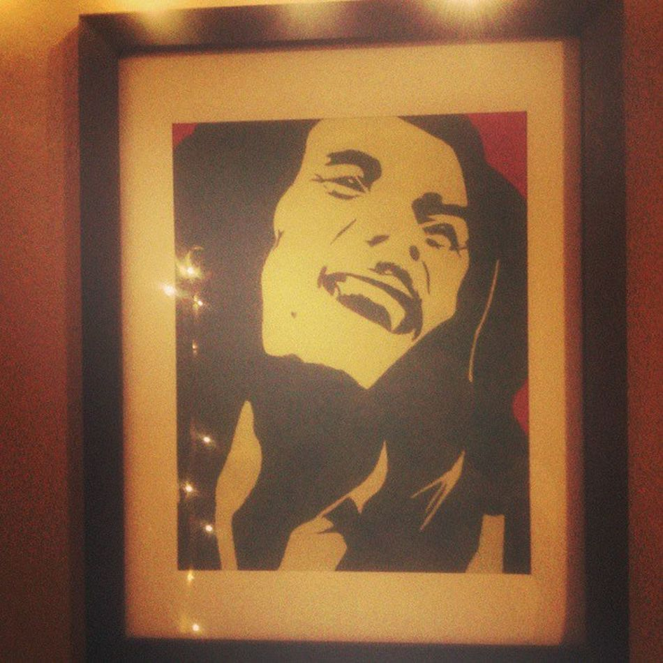 I stole this Bob Marley pic from @antmospheree was finally able to hang it up. :) Bobmarley Madewithcranyon Art