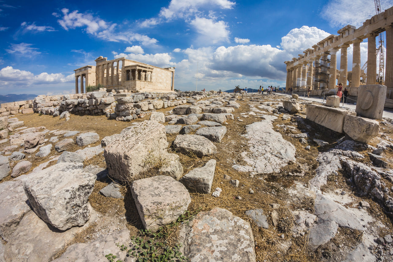 Beautiful stock photos of greece, Architecture, Athens, Built Structure, Cloud