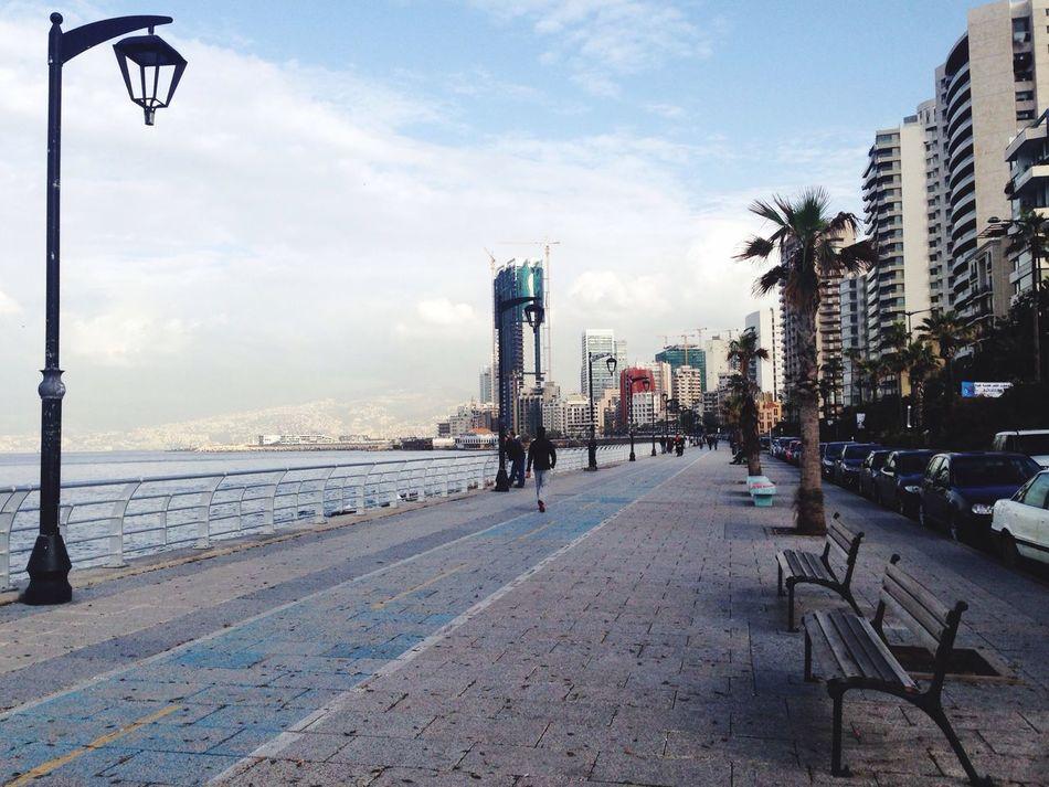 Beirut Beiruting Seaside Raouche Alraouche, Bierut.