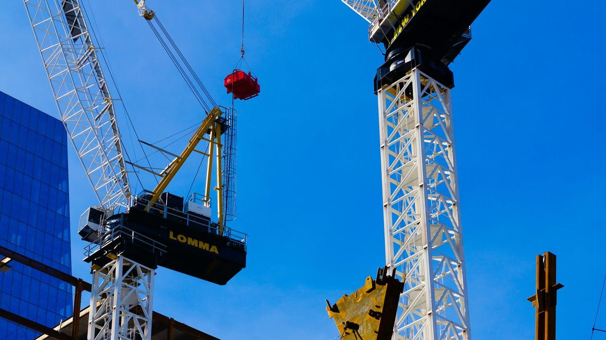 Construction tools. Looking Up Sky Saturated Sky Cranes Machinery Building Up Heavy Metal Lomma Crane Sony A6000 Project365