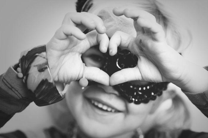 My princess showing love ::: My Love Blackandwhite EyeEm Best Shots Portrait