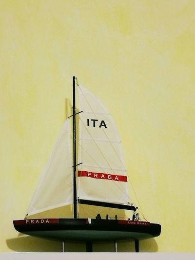 Prada Barca A Vela Modellino Collezione Oggettistica Vela Legno