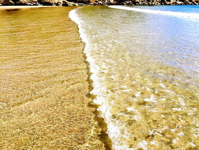 Clear water Beach Water Sea Sand Surf Wave Nature Coastline Ocean Beauty In Nature Outdoors Seaside Coast Seascape Sun Little Waves