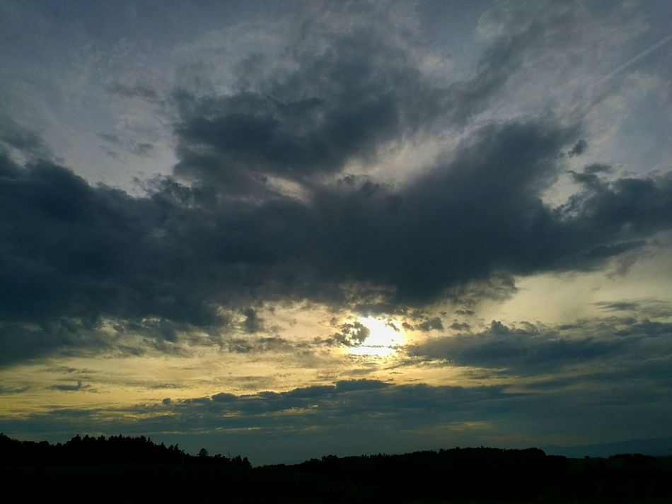 Nightfall Clauds And Sky Sun Switzerland Colour Of Life