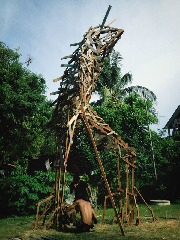 Art Sculpture Langkawi commissioned sculpture by the beach, standing at 20 feet. 2012