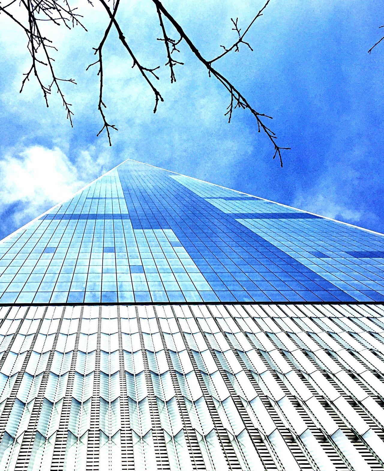 One World Trade Center Freedom NYC Blue Triangle
