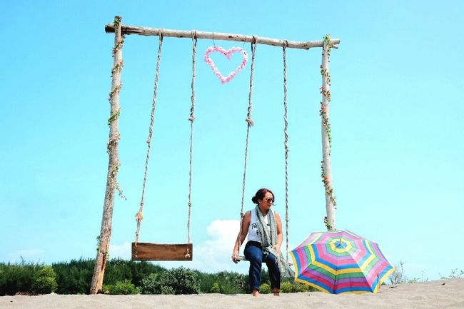 Single moment That's Me Hello World I Love Indonesia Deserted Beach