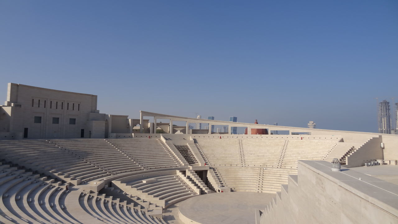 Katara Village #amphitheater #Katara Village #the Pearl #West Bay #the Pearl Beach Photography Beachlife Blue Sky And Clouds In Doha Qatar Katara Beach Katara Village Pearl Harbor
