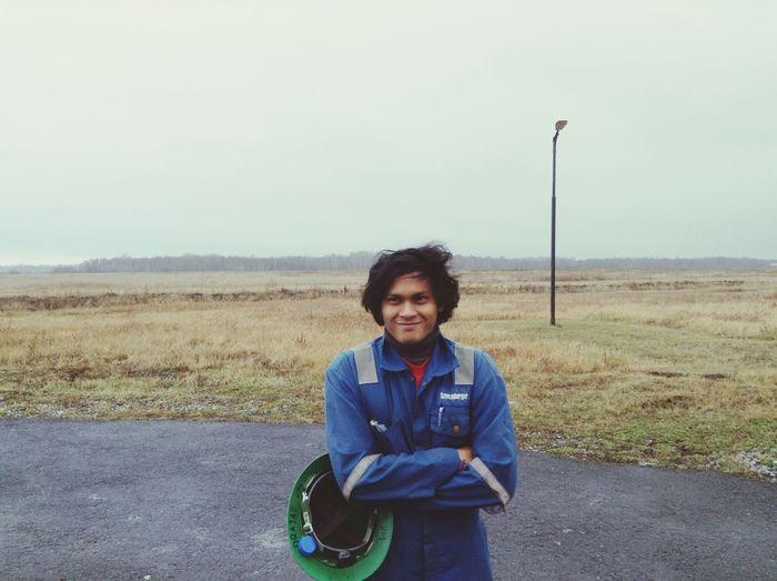 Hugging A Tree Tyumen Siberia Oilfield