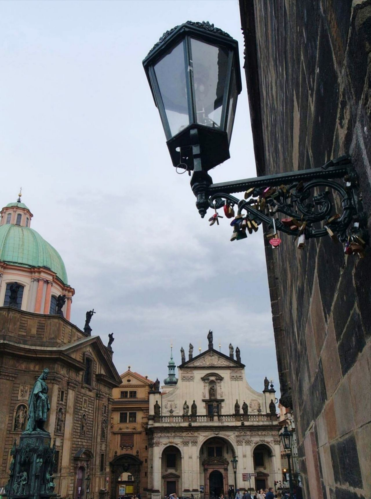 Prague. Architecture Low Angle View No People Eyeem Market Outdoors Sky City Statue Day Churches Cupola Lanterna Padlocks Padlocks On Bridge Old Town Old Buildings The Street Photographer - 2017 EyeEm Awards EyeEm Best Shots EyeEmNewHere Travel Photography Travelingtheworld  Travel Travel Destinations Travelpic Photooftheday