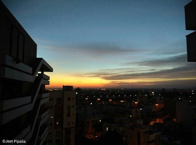 When the morning breeze wakes you up with this bedroom view, one cannot simply ask for more! 😍😍😍 NoEdits  MOFILTERS Xiaomimi4 Clouds Mornings Cityscape Sunrise Instagram_rajkot ThisBeTheBestFeelingEver ! KasturiPride 😎 © Jeet Pipalia