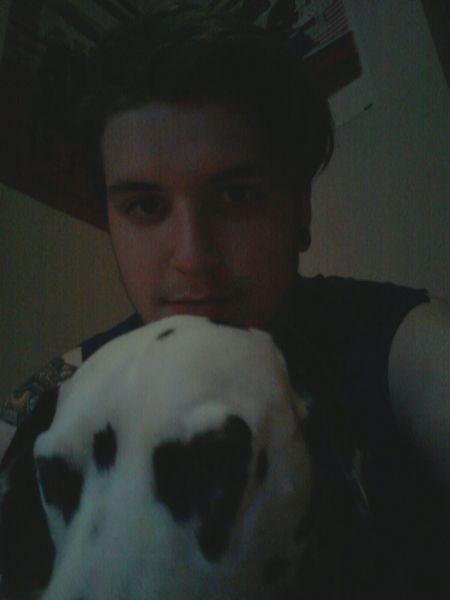 Me and my dawg Sheriff Dog Chillin Good Night Hi!