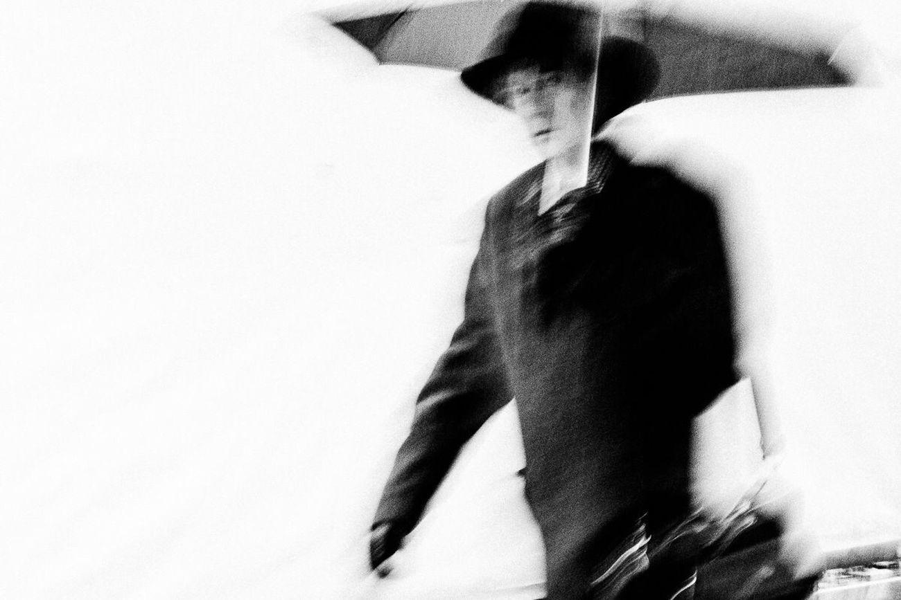 Urban Man Blackandwhite Person Vibration Fine Art Photograhy Street Photography Walking Rain