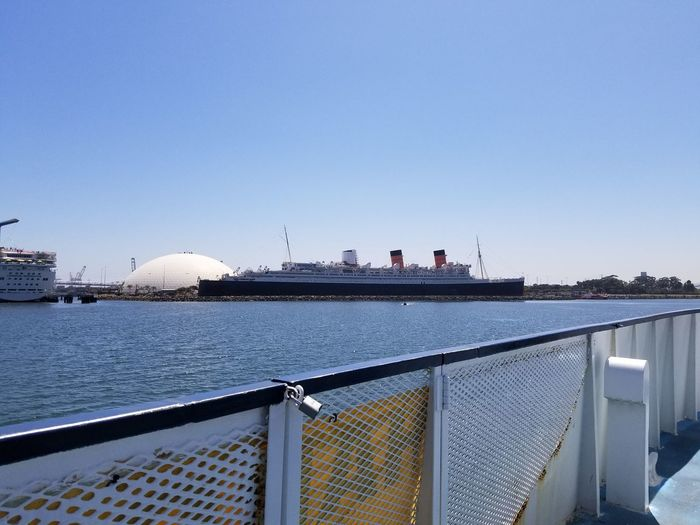 Water Outdoors Nautical Vessel Long Beach California Queen Mary