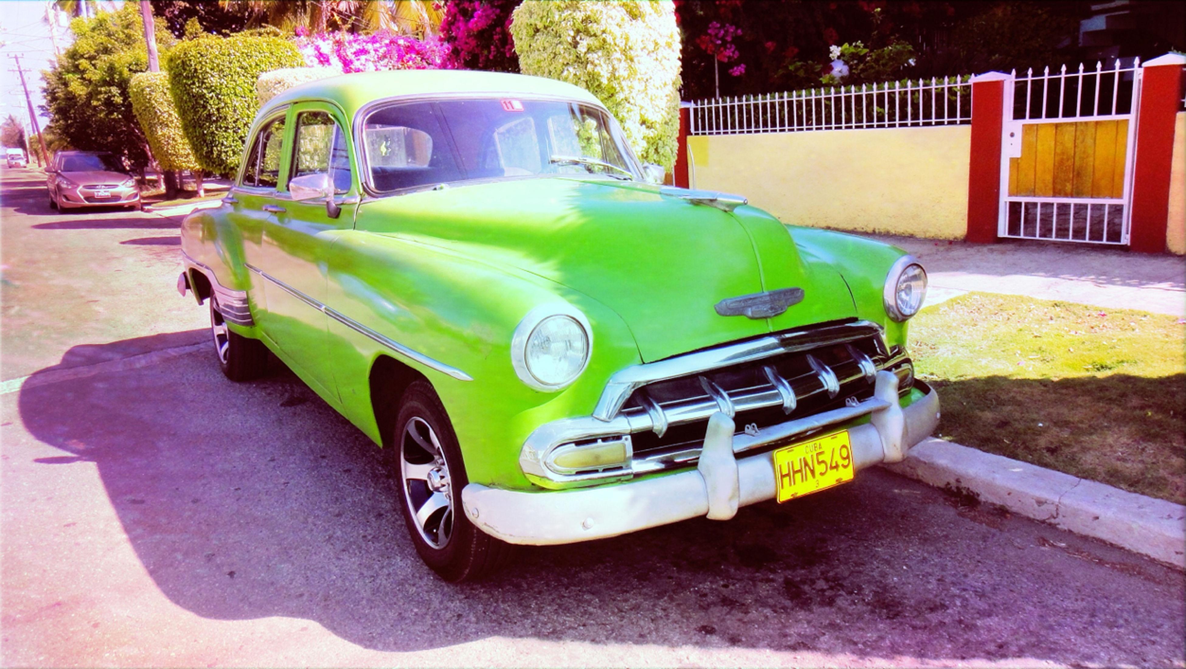 Cuba Car Green