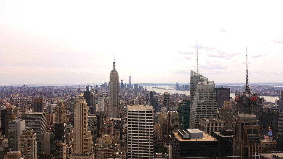 view from top of the rock New York Rockerfeller