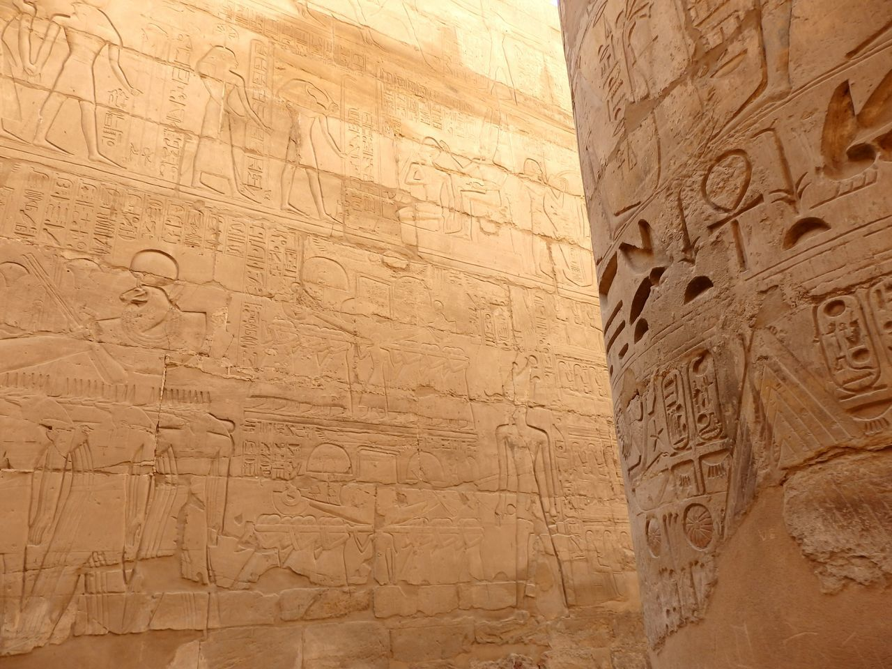 Hieroglyphs in the Karnak Temple Hieroglyphics Hieroglyphs Karnak Temple Luxor Historical Building Historical Monuments Old But Awesome EyeEm Best Shots Eye4photography  EyeEm Gallery Traveling Travel Magical Places The EyeEm Facebook Cover Challenge Key Of Life Pharaoh Egypt Old Writing