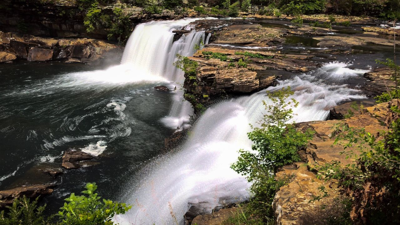 waterfall, motion, long exposure, flowing water, water, blurred motion, beauty in nature, splashing, nature, scenics, power in nature, speed, river, rapid, forest, no people, rock - object, outdoors, day, travel, tranquil scene, running water, spraying, tree, travel destinations