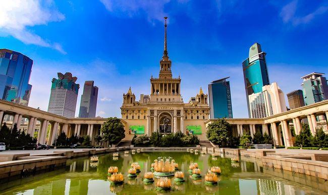 Shanghai 2016 EyeEm Best Shots Showcase April EyeEm Best Shots - Architecture Famous Place Sky And Clouds Hello World EyeEm Best Edits Cityscapes Shanghai, China