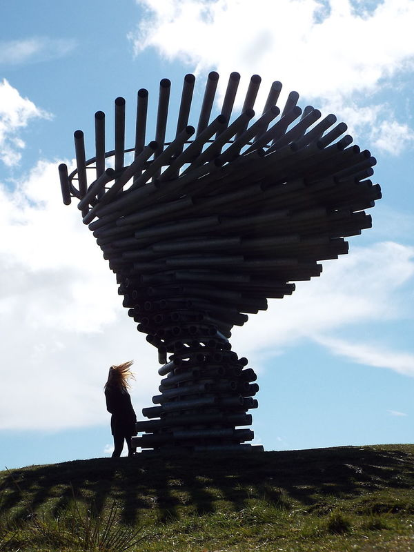 Pipes Tubes Landmark Pennines Pennine Moors Blue Wave Windy Windy Day Let Your Hair Down